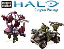 Halo Mega Construx Gungoose Rampage vs Covenant Shade Turret Metalic Recon Scout