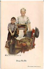 """Doing His Bit"" Successful Farming Cover Artist Signed McClellan Postcard"
