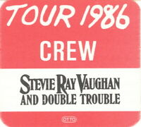 STEVIE RAY VAUGHAN 1986 SOUL TO SOUL TOUR AFTER SHOW BACKSTAGE PASS / NMT 2 MNT