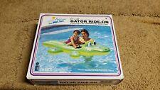 Vintage Intex Wet Set Inflatable Gator Ride On 1993