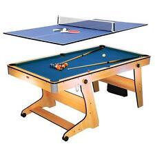 Table Billard Anglais Ping Pong Tennis Pliante Roulettes Bleu + Set Acessoires
