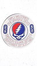 """Vintage 1982 Grateful Dead Concert WPLJ 99.5 Promo Cloth Sticker 3 3/4"""" Unused"""