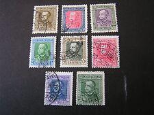 *ERITREA, SCOTT # 150-157(8), COMPLETE SET VICTOR EMMANUEL III 1931 ISSUE USED