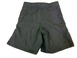 Blank Black Fight Shorts - Size 30