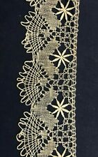 """Vintage Lace 2 3/8"""" width Natural Cotton by the yard - Circa 1900-1930"""