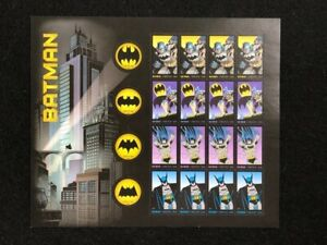 U.S: #4928-35 FOREVER STAMP BATMAN MINT SHEET/20 NH OG