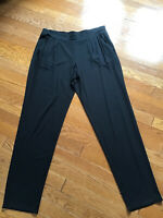 J. Jill Wearever Collection Tapered Leg Stretch Pants Black Size Medium