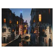 Night View LED Light Up Canvas Painting Picture Wall Hanging Art Decor 12''x16''