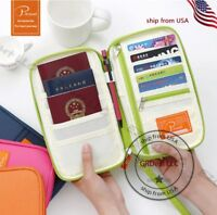 P.travel Travel Passport Credit ID Card Cash Holder Organizer Wallet Purse Bag