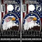 Cornhole Board Wraps US Veteran American Flag Bald Eagle Honor Military POW  02