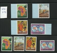 BURUNDI 1969 MNH MAP OF AFRICA & CEPT EMBLEM PLOWING WITH TRACTOR PERF & IMPERF