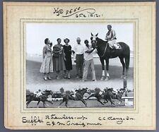1954 Vintage Horse Racing Photo Suffki Hazel Park Racetrack MI Lawless Kranz