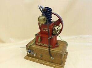 RARE Early Antique Maytag Motor Brass Oilers Wood Base MUSEUM QUALITY