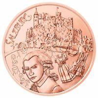 Österreich 10 Euro 2014 Salzburg Kupfermünze aus Kinderhand bankfrisch