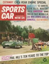 SPORTS CAR GRAPHIC 1961 DEC - TR4, BONNEVELLE, P HILL, VETTE, 190SL