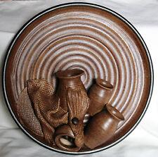Vintage Stoneware Wall Hanging Posy Vases - Glen Pottery - 1970s