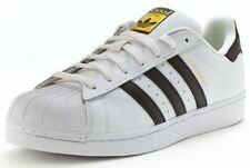 ADIDAS Men's SUPERSTAR 80s S77124 White / Gold ATHLETIC SHOES - 11 / 45-1/3