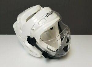 Martial Arts Macho Dyna Headgear & Face Shield Unused White XL HRC650L