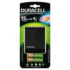 Duracell 45 minute Battery Charger + 2AA & 2AAA Rechargeable Batteries UK Plug