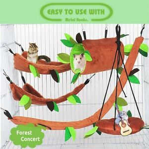 Pet Hamster Bird Hanging Swing Hammock Rat Mouse Cage Rope Bed Toys