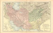 1893 Antique Map - Persia, Afghanistan And Baluchistan