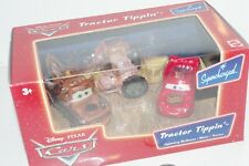 NEW Disney Pixar Cars Tractor Tippin 3-Pack Mater Lightning McQueen Diecast 1:55