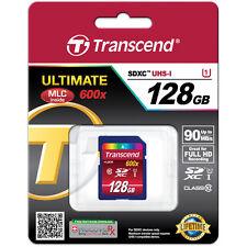 Transcend 128GB SDXC Ultimate 90MB/s Class 10 UHS-1 Memory Card (TS128GSDXC10U1)