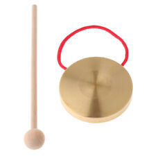 More details for 21cm hand gong copper cymbals with wooden stick percussion kids music toys ✺