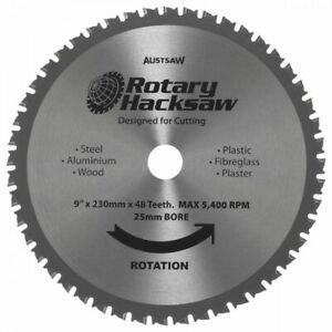 Austsaw Rotary Hacksaw Blade 230mm (9inch) - 48 teeth - Cuts Plaster-