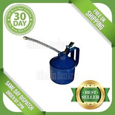 1 Pint Oil Can Garage Thumb Pump Lever Action Metal Steel With Flexible Spout