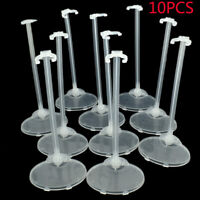 10 Pcs 11.5'' Doll Display Stand Holder Transparent Toys Model Support Tools Acc