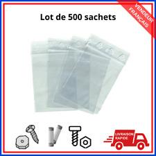 Lot 500 sachet plastique fermeture pression ZIP pochon transparent pochette Neuf