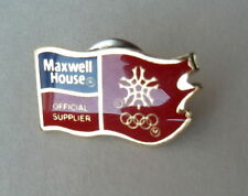 Maxwell House Official Supplier 88 Calgary Olympic Lapel Hat Pin