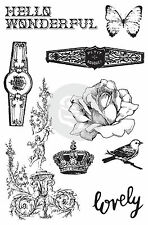 Cigar Box Secrets Cling Unmounted Rubber Stamp Set Prima Inc #575779 New