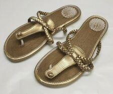 ladies womens GAP golden mules slip on sandals Size UK 4.5 EU 37.5