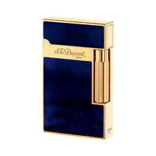 NEW ST Dupont Atelier Blue & Yellow Gold Finish Natural Lacquer Lighter ST016134