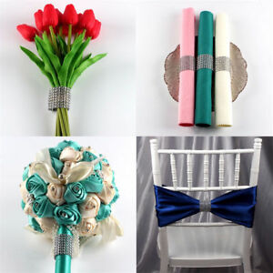 10pcs Diamond Napkin Ring Serviette Holder Wedding Banquet Dinner Decor Favor