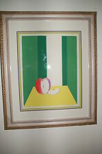 """1974 Apple """"For Eve"""" Silk Screen Print signed 8/18 NEW FRAME Triple Mat Updated!"""