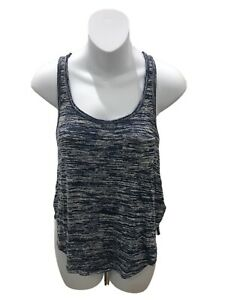Abercrombie Kids Marled Blue Racerback Tank Top Medium
