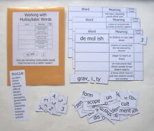 Teacher Made Literacy Center Resource Game Understanding Multisyllabic Words