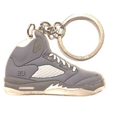 342c28cd5194 AIR JORDAN V 5 RETRO WOLF GREY SUPREME OG SNEAKERS SHOES KEY CHAIN RING  HOLDER