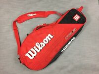 Wilson Tour Tennis Racquet Traveling Carrying Case Red