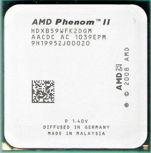 AMD Phenom II X2 B59 CPU 3.4GHz HDXB59WFK2DGM AM3 AM2+ AM3+ 565