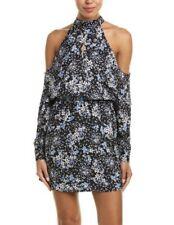 NWT Parker Cold-Shoulder Shift Dress Scilla Blue Women's Size M $378. P1.09