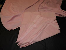 """Vintage Pink Tablecloth Rectangle with 9 Napkins 81"""" x 58"""""""