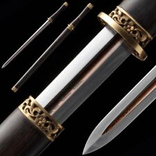 Hand Forged High Quality pattern steel BiXie Sword Pure copper Fittings #5047