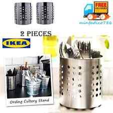 "Cutlery Utensil Holder Ordning Flatware Caddy Stainless Steel 5"" IKEA, 2 Pack"