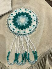 Vintage Native American Beaded Cotton Suede Jacket