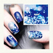 Rainbow Charm Flower Water Transfer Nail Art Stickers Decals DIY Manicure YZW162