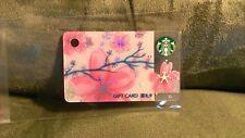 $4--> HOT! STARBUCKS 2017 China The Sakura Mini Gift Card PIN In-Tact US Seller